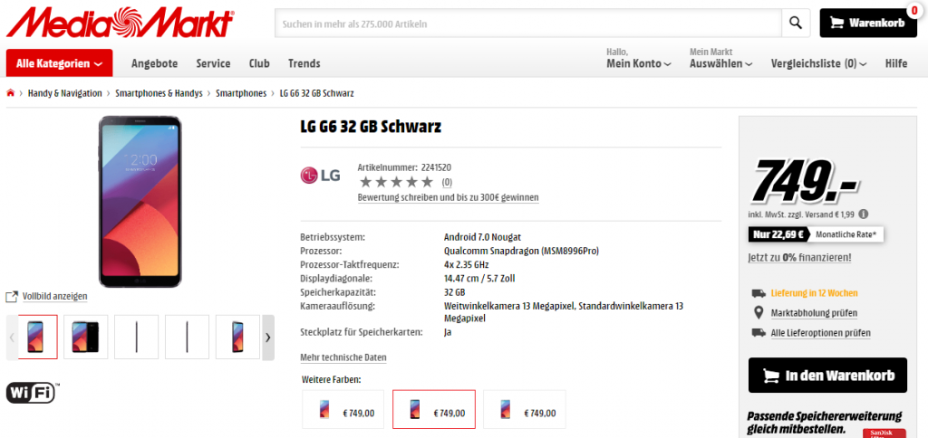 LG G6 Mediamarkt