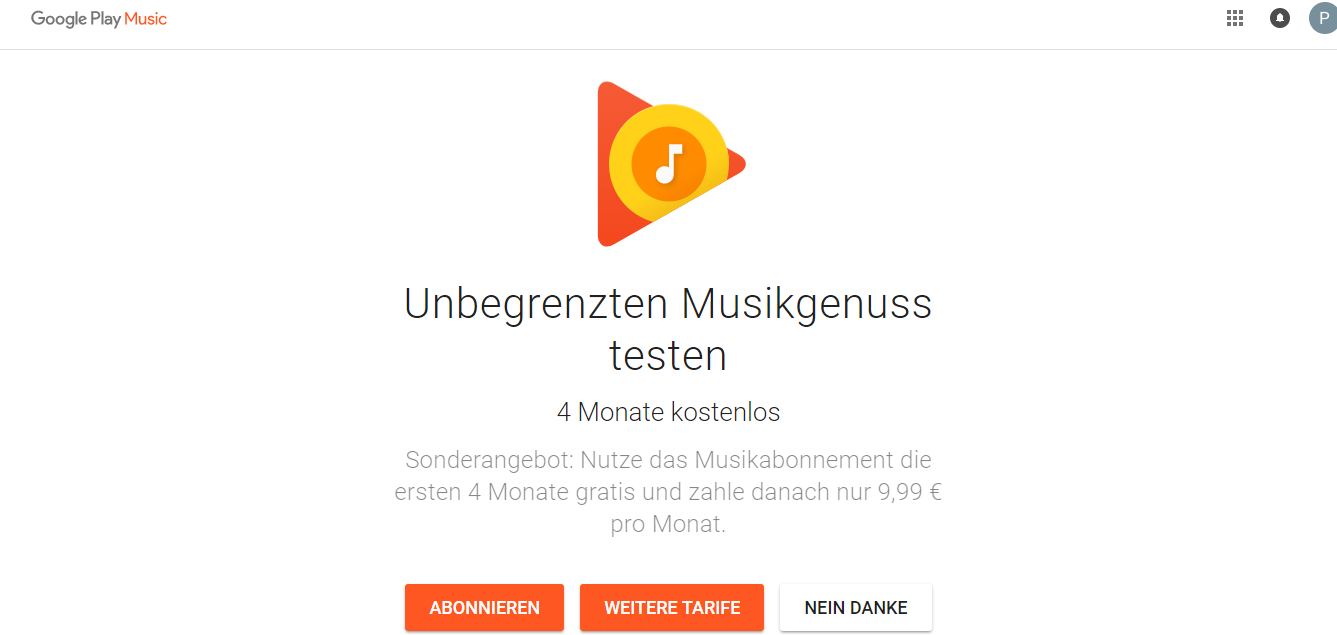 Google Play Music Premium